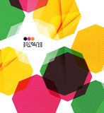Colorful geometric modern design template Royalty Free Stock Photography