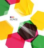 Colorful geometric modern design template Stock Photos