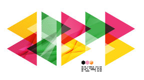 Colorful geometric modern design template Stock Images