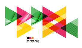 Colorful geometric modern design template Royalty Free Stock Photos