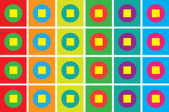 Colorful geometric mosaic. Many colored retro style pattern Stock Images