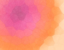 Colorful Geometric Mosaic - Abstract Background. Geometric mosaic background created in pink, purple, orange and yellow colors Royalty Free Stock Photography