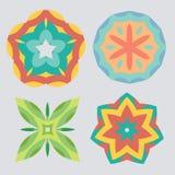 Colorful geometric ornament pattern set Royalty Free Stock Photo