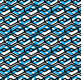 Colorful geometric overlay seamless pattern, symmetric endless v Stock Photos