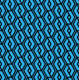 Colorful geometric overlay seamless pattern, symmetric endless v Stock Photography