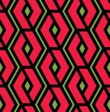 Colorful geometric overlay seamless pattern, symmetric endless v Stock Photo