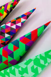 Colorful Geometric Paper Folds Stock Photography