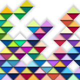 Colorful Geometric Pattern. Colorful Abstract Spatial Geometric Pattern Stock Photo