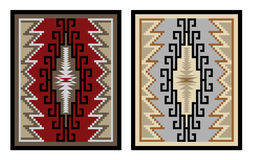 Colorful geometric pattern, blanket, banner. Royalty Free Stock Images