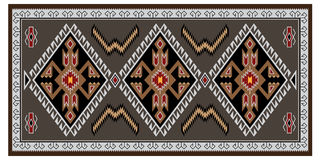 Colorful geometric pattern, blanket, banner. Stock Photos