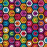 Colorful geometric pattern with hexagons stock illustration