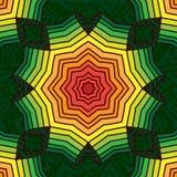 Colorful geometric pattern, mandala. Reggae style, wheel, rainbow, gradient. vector illustration