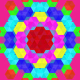 Colorful geometric pattern in rainbow colors Stock Image