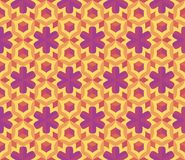 Colorful geometric pattern. Seamless colorful geometric pattern. Vector background with flowers Royalty Free Stock Photography