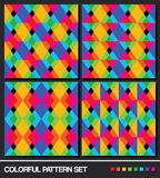 Colorful geometric pattern set. Stock Photography