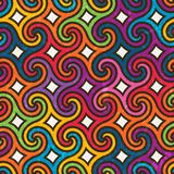Colorful geometric pattern with spirals Royalty Free Stock Photography