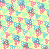 Colorful geometric pattern. With trigons Royalty Free Stock Photos