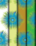 Colorful geometric patterns. Blue and green colorful geometric patterns, vector Stock Photos