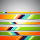 Colorful geometric retro background Stock Photos
