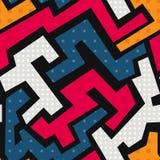 Colorful geometric seamless pattern. (eps 10 stock illustration