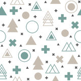 Colorful geometric seamless pattern. Abstract tribal background. Vector Stock Photos