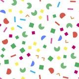 Colorful geometric seamless pattern. On white background stock illustration