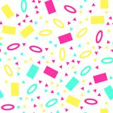 Colorful geometric seamless pattern. On white background royalty free illustration