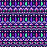 Colorful geometric seamless pattern in neon colors Stock Photos