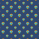 Colorful geometric seamless pattern in flat minimal style for backgrounds and textures. Modern flat style royalty free illustration