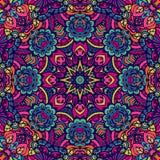 Colorful geometric seamless pattern indian mandala Stock Image