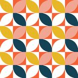 Colorful geometric seamless pattern. Mid century style. vector illustration