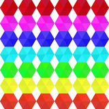Colorful geometric seamless pattern rainbow colors. Colorful geometric seamless pattern of hexagons in rainbow colors stock illustration