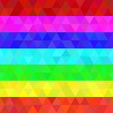 Colorful geometric seamless pattern rainbow colors. Colorful geometric seamless pattern of triangles in rainbow colors royalty free illustration