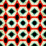 Colorful geometric seamless pattern in retro style grunge effect vector illustration