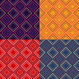 Colorful Geometric Seamless Pattern Set Royalty Free Stock Image