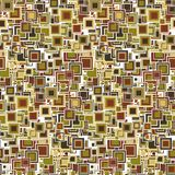 Colorful geometric seamless pattern. The squares of different sizes and colors. Royalty Free Stock Image