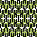 Colorful geometric seamless pattern, symmetric endless vector ba. Ckground with intertwine green and black lines. Abstract concept splicing covering Stock Photo