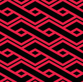 Colorful geometric seamless pattern, symmetric endless vector ba. Ckground with intertwine lines. Abstract concept red splicing covering royalty free illustration