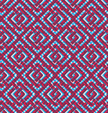 Colorful geometric seamless pattern, symmetric endless vector ba. Ckground with intertwine lines. Abstract concept splicing covering vector illustration