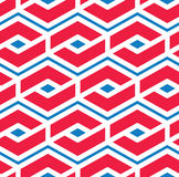 Colorful geometric seamless pattern, symmetric endless vector ba Royalty Free Stock Photography