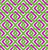 Colorful geometric seamless pattern, symmetric endless vector. Background with intertwine lines. Abstract concept splicing covering royalty free illustration