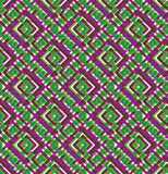 Colorful geometric seamless pattern, symmetric endless vector. Background with intertwine lines. Abstract concept splicing covering vector illustration