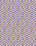 Colorful geometric seamless pattern with symmetric zigzag ornament Royalty Free Stock Images