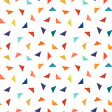 Colorful geometric seamless pattern with triangles elements. Vector illustration - memphis design vector illustration
