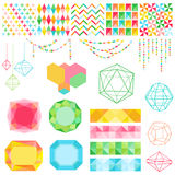 Colorful Geometric Set Stock Images