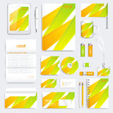 Colorful geometric set of vector corporate identity template. Modern business stationery mock-up. Branding design with Royalty Free Stock Photography