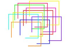 Colorful geometric shapes royalty free stock image