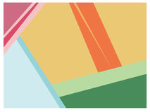 Colorful geometric shapes background Stock Photography