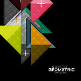 Colorful geometric shapes with texture on black Royalty Free Stock Photography