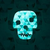 Colorful geometric skull. Royalty Free Stock Photo